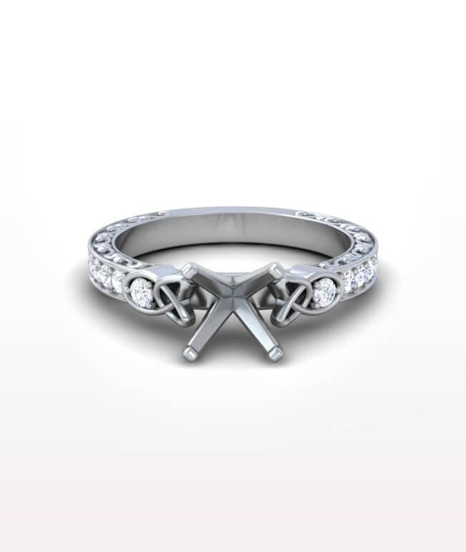 Sapphire celtic Rings