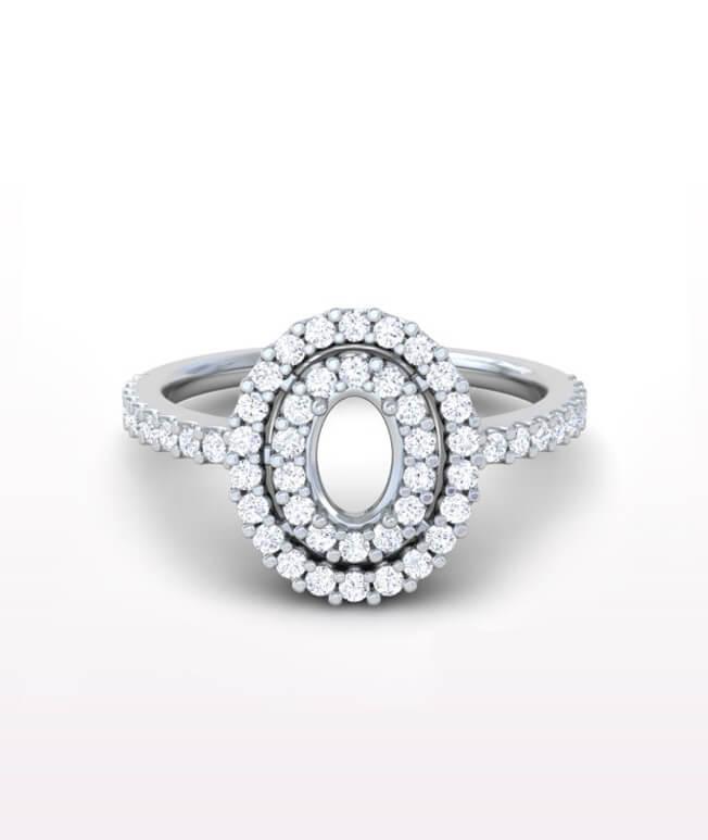 Sapphire Halo Rings