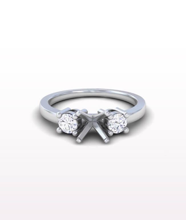 Sapphire Three Stone Rings