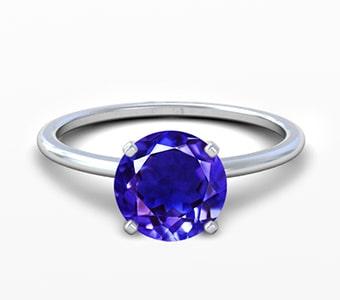 GemsNY Tanzanite Solitiare Engagement Rings