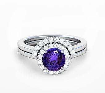 GemsNY Tanzanite Wedding Sets Engagement Rings