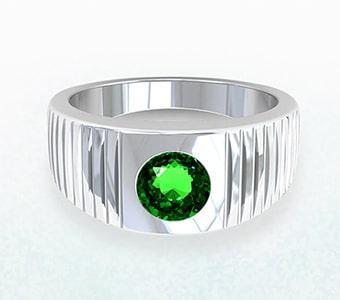 GemsNY Tsavorite Halo Engagement Rings