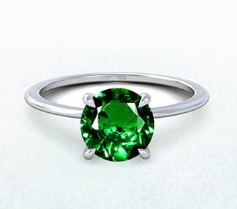 GemsNY Tsavorite Solitiare Engagement Rings