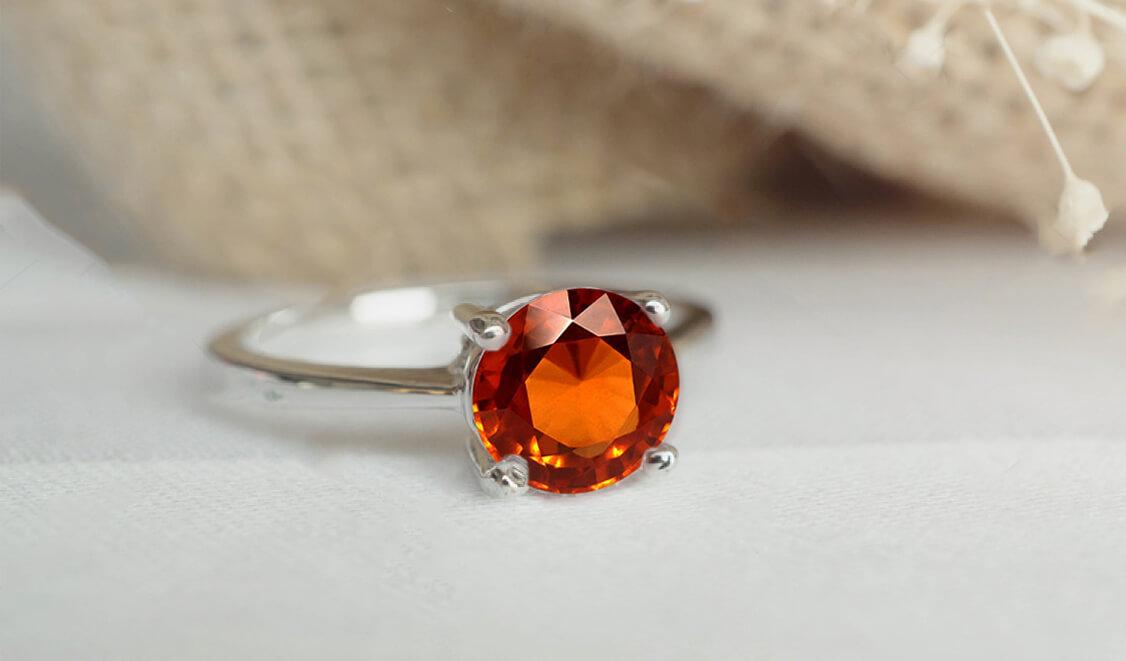 Hessonite Garnet Rings