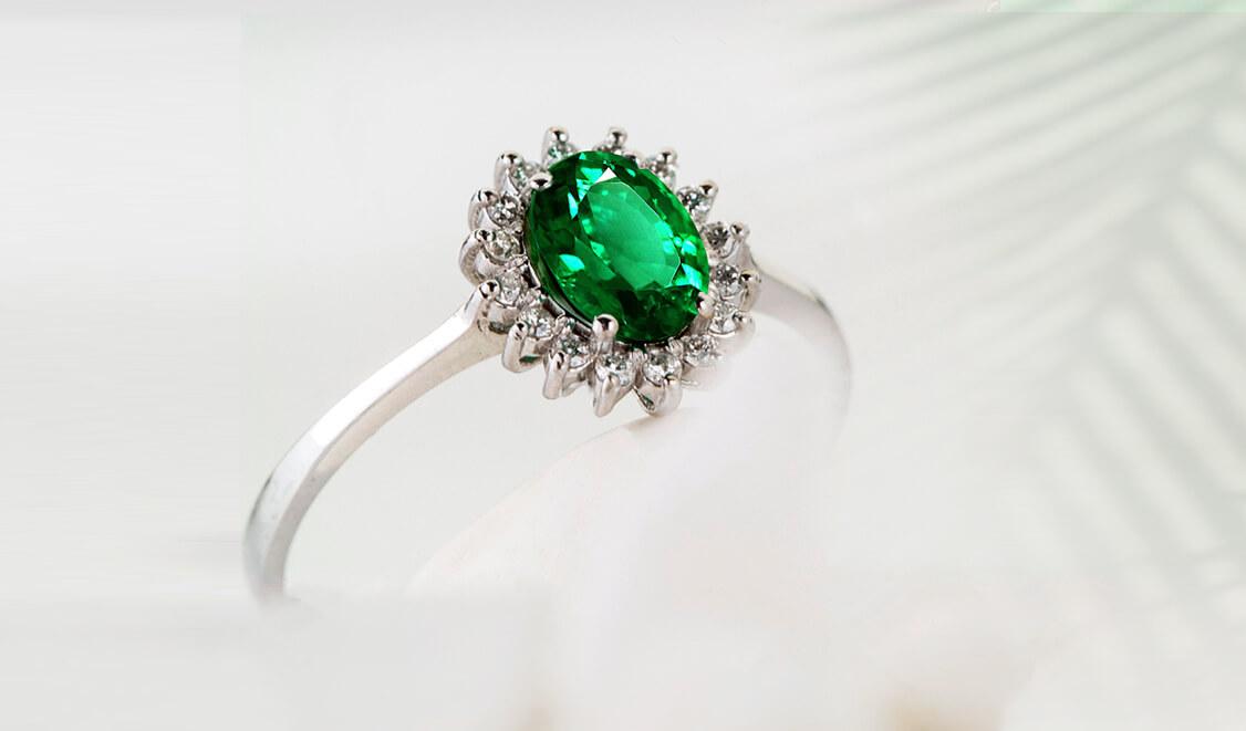 Tsavorite Engagement Ring