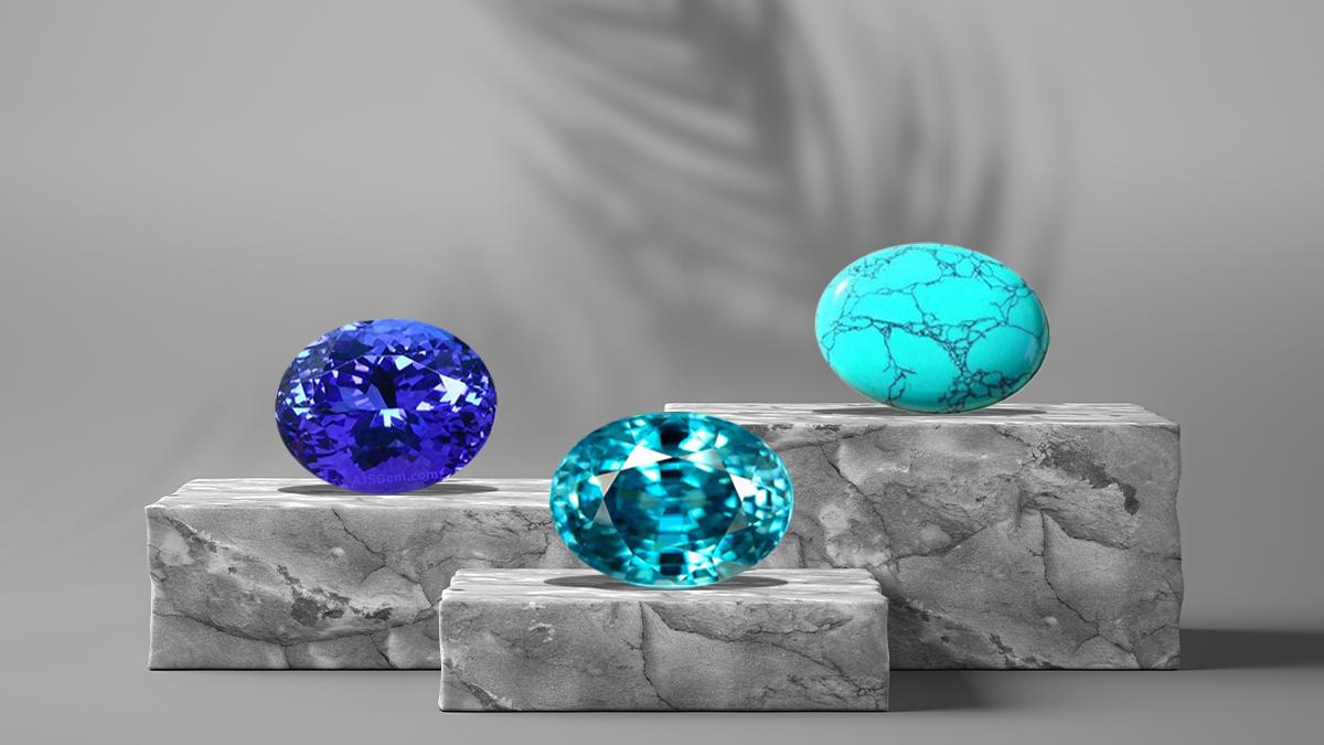 December Birthstones: Tanzanite, Zircon, and Turquoise