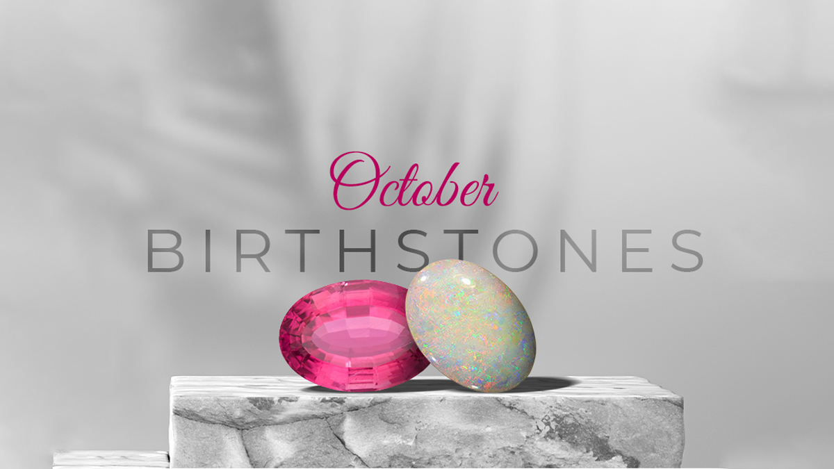 October Birthstones - Pink Tourmaline and Opal